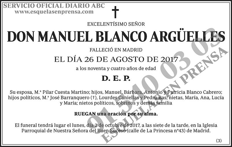 Manuel Blanco Argüelles